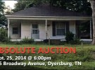Absolute Auction: 895 sqft house
