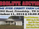 Absolute Auction: 1289 sqft home selling with 40 acres