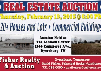 Large Real Estate Auction: February 19th