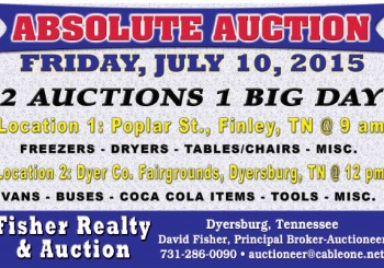 Absolute Auction: Friday, July 10, 2015