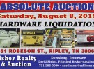 Absolute Auction: Saturday, August 8, 2015