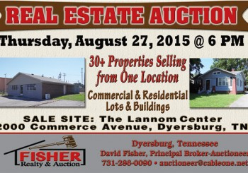 Real Estate Auction: August 27, 2015