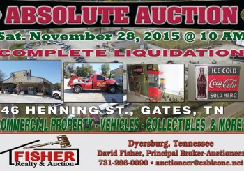 Absolute Auction: November 28th, 2015