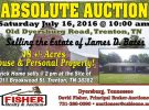 Absolute Auction: Saturday July 16th
