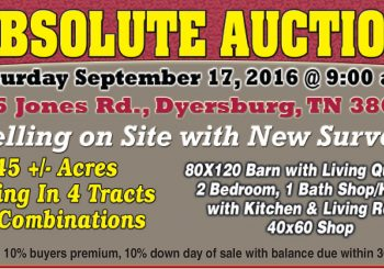 Absolute Auction: September 17th