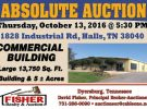 Absolute Auction: October 13th