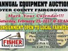 Annual Equipment Auction: February 25th