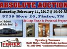 Absolute Auction: February 11th