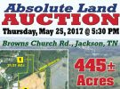 Absolute Land Auction: May 25th